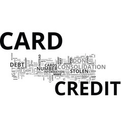 what to do when you loose your credit card text vector image vector image