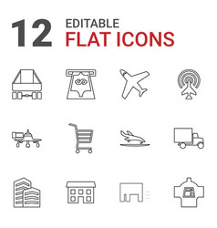 12 commercial icons vector