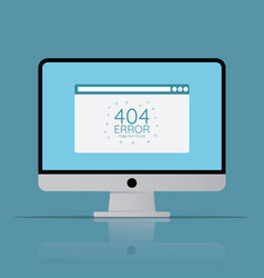 404 error page in browser screen icon computer vector image