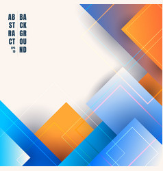 abstract blue and orange gradient color geometric vector image