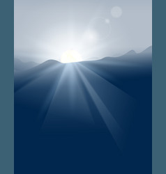 abstract blue sunset with defocused lights vector image