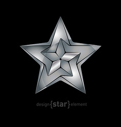 Abstract Metallic star vector