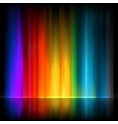 Aurora borealis colorful abstract eps 8 vector