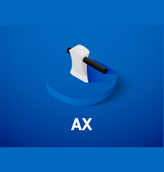 Ax isometric icon isolated on color background vector