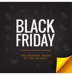 Black Friday banner concept Big deals Gold vector image