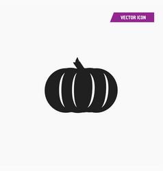Black solid halloween pumpkin icon vector