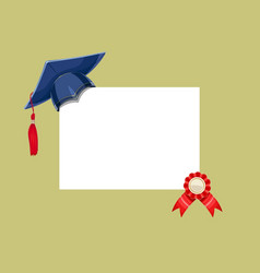 Blue academicic graduation cap vector