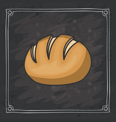 bread of bakery food design vector image
