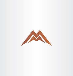 Brown letter m symbol logo element vector