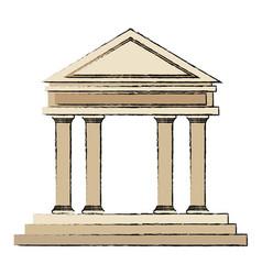 building bank financial business concept vector image
