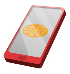 buy pizza online icon cartoon style vector image