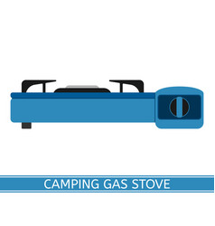 Camping gas stove vector