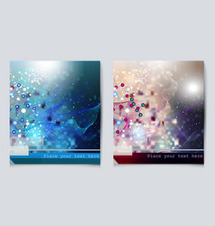 chemistry backgrounds set for your design vector image