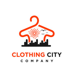 city clothing logo design template vector image