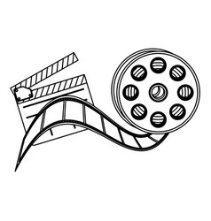 clapper board film and film production icon vector image