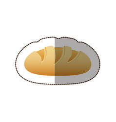 colorful nomal bread icon vector image