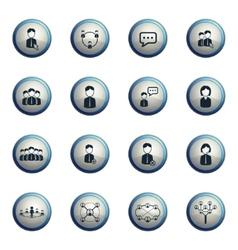 Communication icons set vector