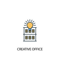 creative office concept 2 colored line icon vector image
