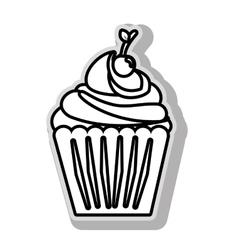 Cupcake delicious desert vector