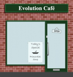 Evolution cafe vector