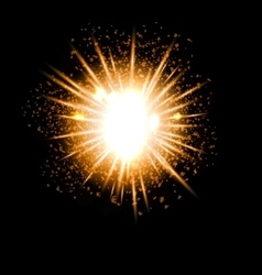 Explosion fireworks powerful bright ray vector