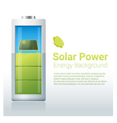 green energy concept background with solar panel vector image