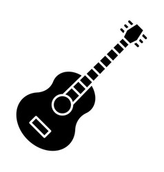guitar glyph icon mexican vihuela string acoustic vector image