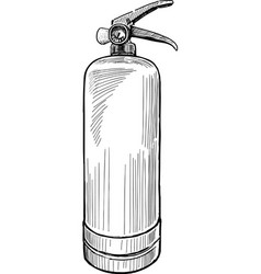 Hand drawing a modern fire extinguisher for vector