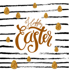 happy easter colored fun background vector image