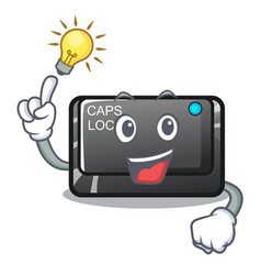 Have an idea capslock button isolated with the vector