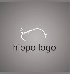 Hippo logo ideas design vector