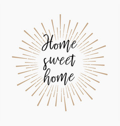 Hom sweet home gold glitter background vector