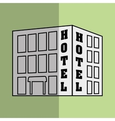 hotel building design vector image