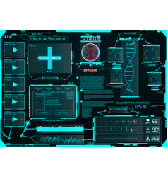 Hud for the application medical interface ui vector