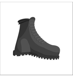Hunting boots icon black monochrome style vector image