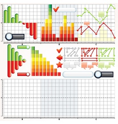 Infographic charts graphs templates vector