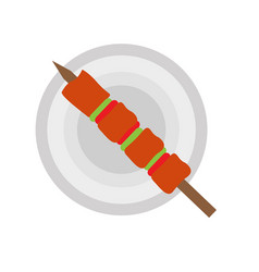 isolated brochette icon vector image