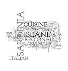 Italian cuisine a trip to the island of sardinia vector