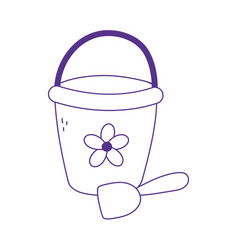 kids toys bucket and shovel icon design white vector image