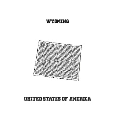 Label with map of wyoming vector image