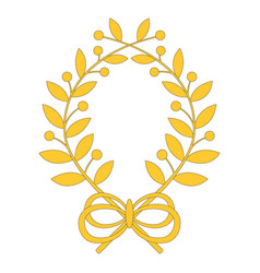 Laurel wreath with bow vector