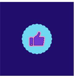 Like icon logo design vector