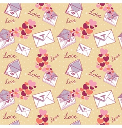 Love letter Valentine seamless texture vector image