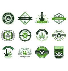Marijuana label smoke weeds cannabis joint vector