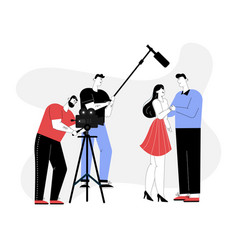 Melodramatic film making romantic scene vector
