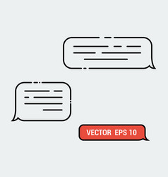 message - icon speech bubble in flat design vector image