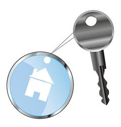 Metal key and house vector