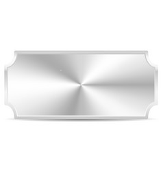 Metal plaque plate isolated on white with conical vector