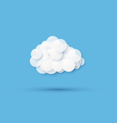 modern cloud icon on blue background vector image