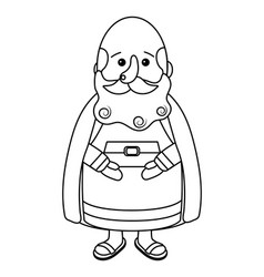 nativity wise man cartoon vector image